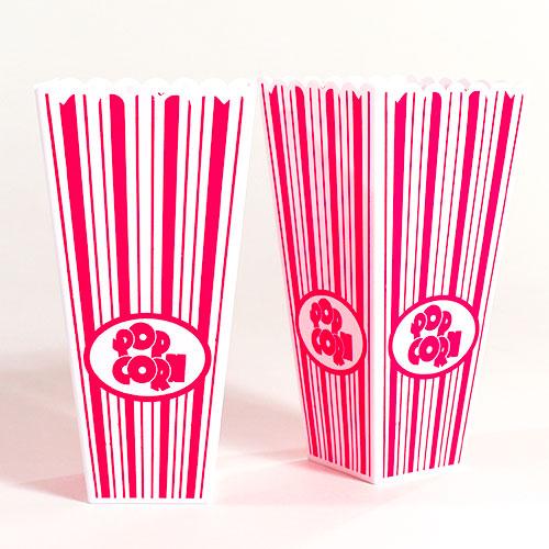 Plastic Popcorn Holders 19cm - Pack of 2