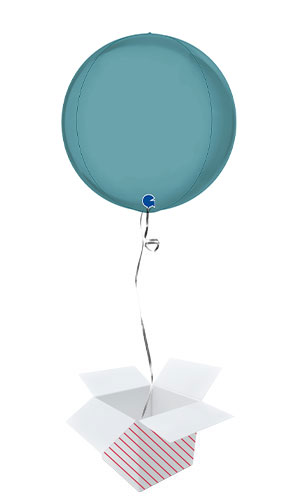 Platinum Blue Tenerife Sea 4D Large Globe Foil Helium Balloon - Inflated Balloon in a Box Product Image