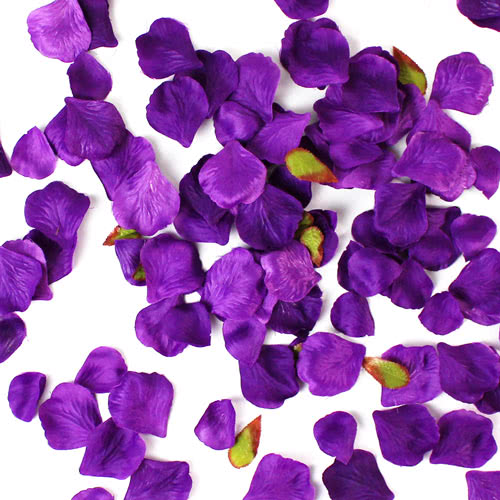 Plum Fabric Rose Petals