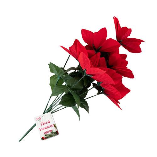 Poinsettia Flower Christmas Spray Decoration 40cm Product Image