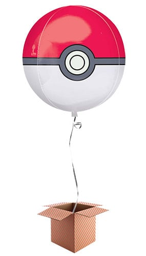 Pokemon Poke Ball Orbz Foil Balloon - Inflated Balloon in a Box Product Image