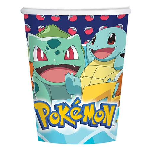 Pokemon Paper Cups 250ml - Pack of 8