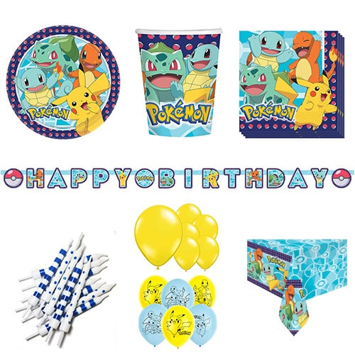 Pokemon Theme 16 Person Deluxe Party Pack