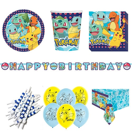 Pokemon Theme 8 Person Deluxe Party Pack