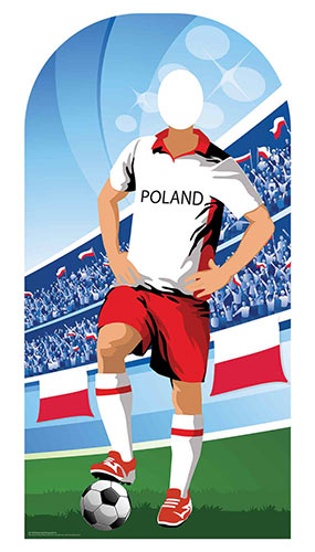 Poland Football Stand-In Cardboard Cutout 190cm Product Image
