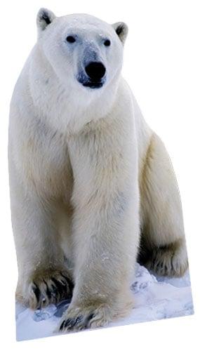 Polar Bear Lifesize Cardboard Cutout - 176cm Product Image