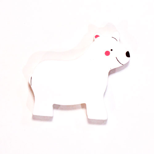 Polar Bear Wooden Magnetic Toy Product Image