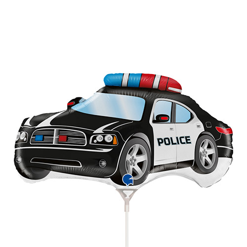 Police Car Air Fill Foil Balloon 38cm / 14 in Product Image