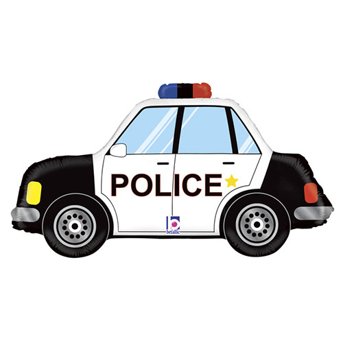 Police Car Helium Foil Giant Balloon 86cm / 34 in Product Image