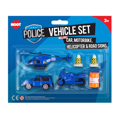 Police Vehicles Toys Playset