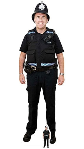 Policeman With Bobby Hat Lifesize Cardboard Cutout 190cm Product Image