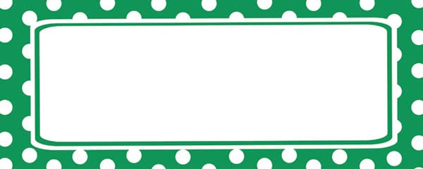 Polka Dots Forest Green Design Small Personalised Banner - 4ft x 2ft