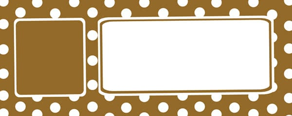 Polka Dots Gold Design Small Personalised Banner - 4ft x 2ft