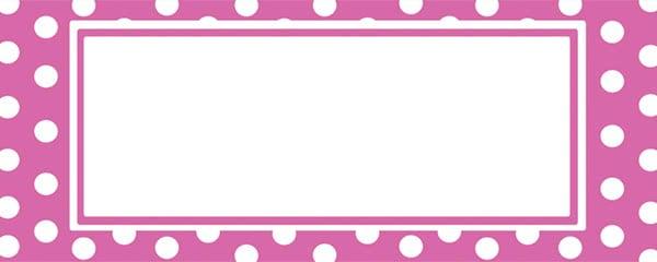Polka Dots Pink Design Medium Personalised Banner - 6ft x 2.25ft