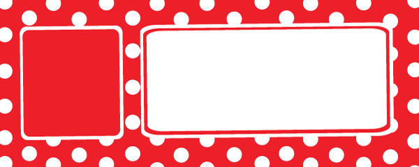 Polka Dots Red Design Small Personalised Banner - 4ft x 2ft