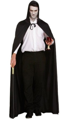 Polyester Black Cape Adults Fancy Dress