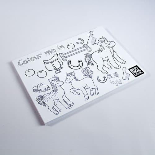 Pony Themed A4 Colouring sheet