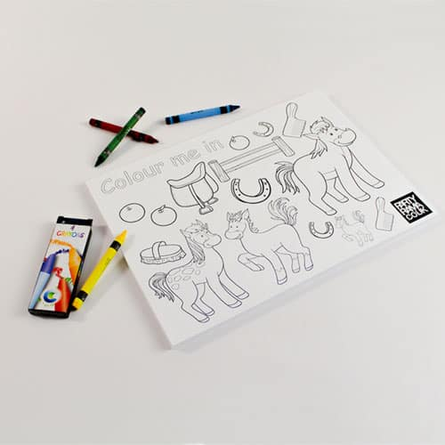 Pony Themed A4 Colouring Sheet With 4 Crayons Product Image