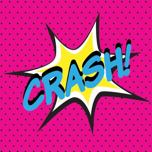 Pop Art Crash PVC Party Sign Decoration 20cm x 20cm Product Image