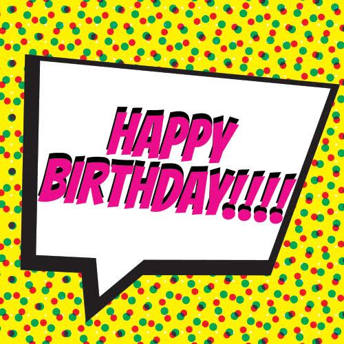Pop Art Happy Birthday PVC Party Sign Decoration 20cm x 20cm Product Image