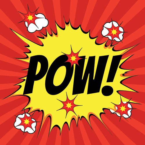 Pop Art Pow PVC Party Sign Decoration 20cm x 20cm Product Image