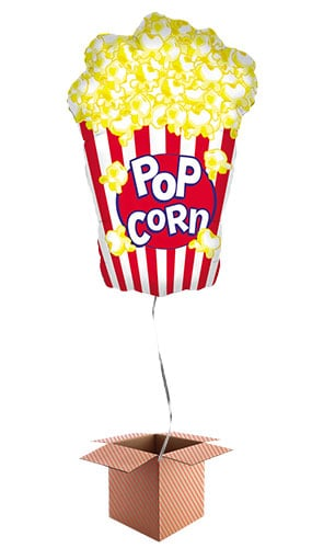 Popcorn Helium Foil Giant Balloon - Inflated Balloon in a Box