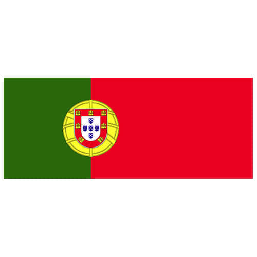 Portugal Flag PVC Party Sign Decoration 60cm x 24cm