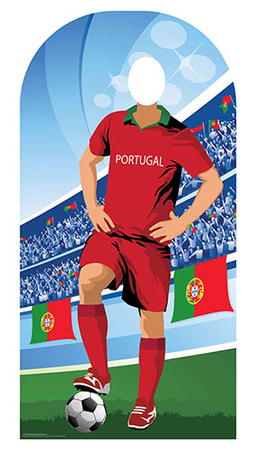 Portugal Football Stand-In Cardboard Cutout 190cm Product Image