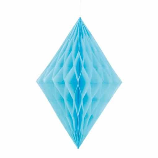 Powder Blue Diamond Honeycomb Hanging Decoration 35cm Product Image