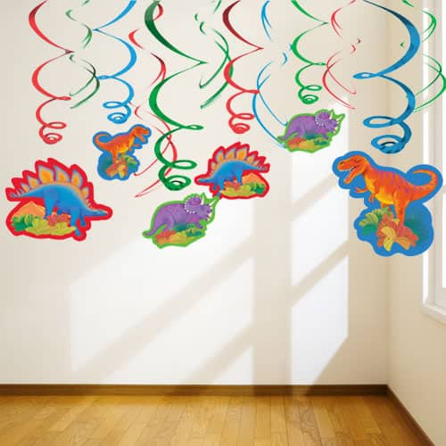Prehistoric Party Hanging Swirl Decorations - Pack of 12
