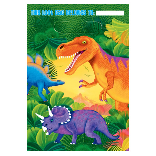 Prehistoric Party Loot Bags - Pack of 8