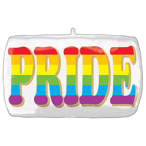 Pride Rainbow Helium Foil Giant Balloon 71cm / 28 in Product Image