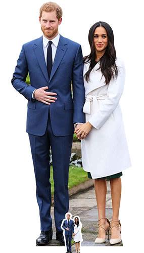 Prince Harry And Meghan Markle Lifesize Cardboard Cutout 186cm Product Image