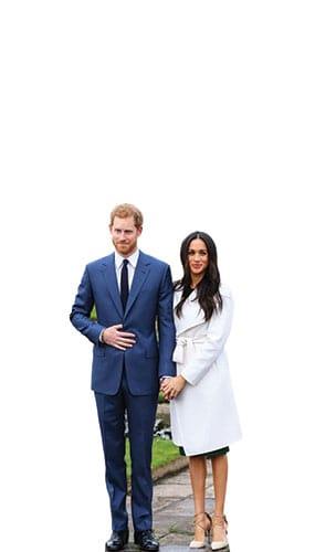 Prince Harry And Meghan Markle Star Mini Cardboard Cutout 91cm