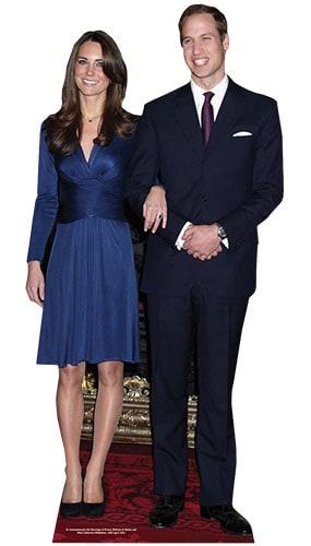 Prince William and Kate Middleton Lifesize Cardboard Cutout - 171cm