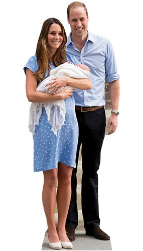 Prince William, Kate And Baby George Lifesize Cardboard Cutout - 184cm Product Image