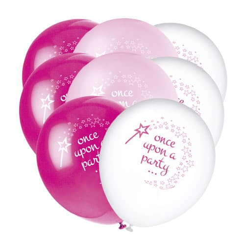Princess and Unicorn Biodegradable Latex Balloons - Pack of 8 Product Image