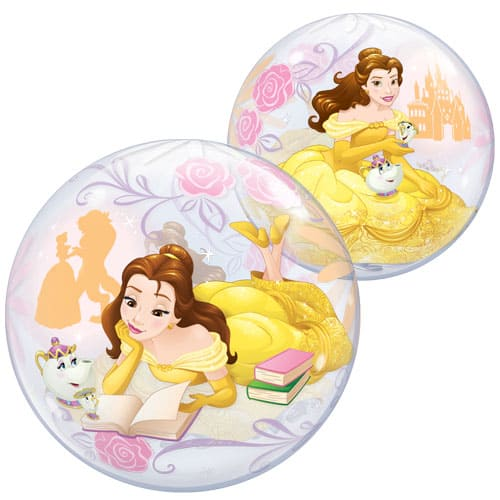Disney Beauty And The Beast Belle Bubble Helium Qualatex Balloon 56cm / 22 in