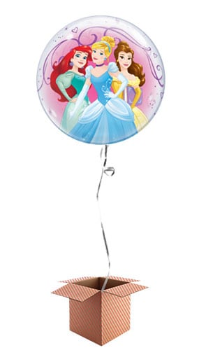 Disney Princesses Bubble Helium Qualatex Balloon - Inflated Balloon in a Box Product Image