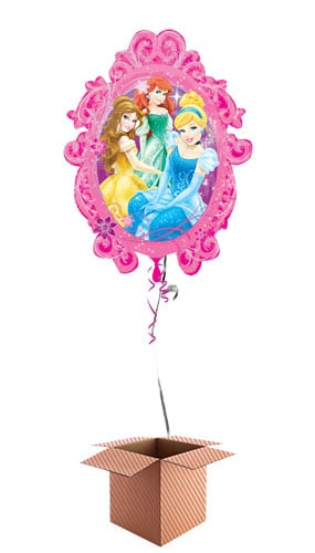 Princesses In Frame Helium Foil Giant Balloon - Inflated Balloon in a Box Product Image