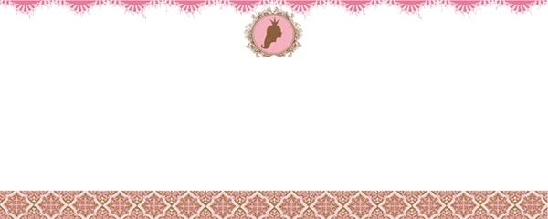 Princess Locket Design Medium Personalised Banner - 6ft x 2.25ft