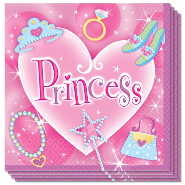Prismatic Princess 2 Ply Luncheon Napkins - 13 Inches / 33cm - Pack of 16