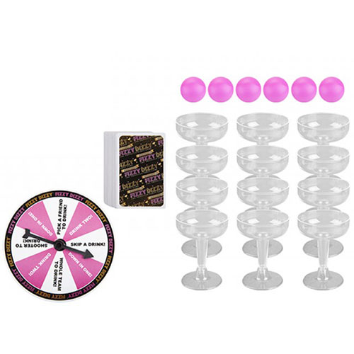 Prosecco Fizzy Dizzy Adult Drinking Game Set