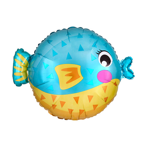 Puffer Fish Shaped Foil Helium Balloon 48cm / 19 in Product Image