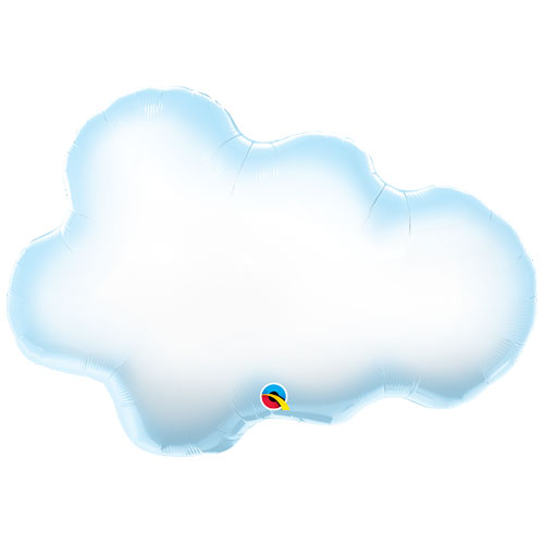 Puffy Cloud Helium Foil Giant Qualatex Balloon 76cm / 30  in Product Image