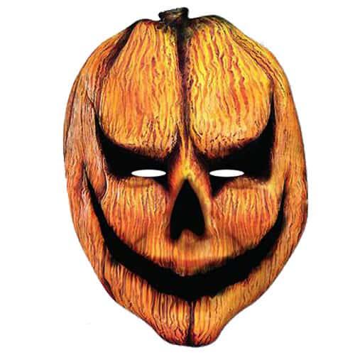 Pumpkin Head Halloween Cardboard Face Mask Product Image