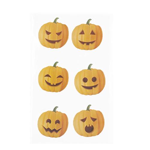 Pumpkin Halloween Gel Window Stickers Decorations Product Image