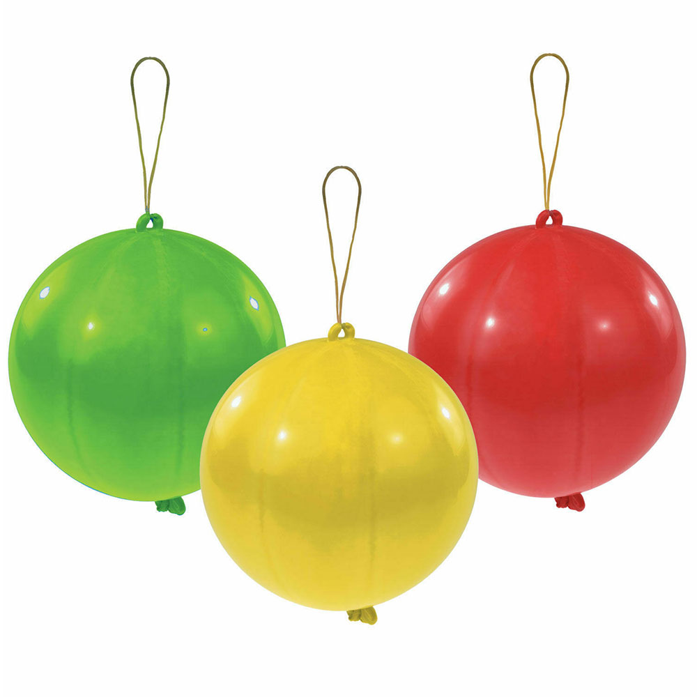Punch Balls Assorted Latex Balloons 28cm / 11 in - Pack of 3 Product Image