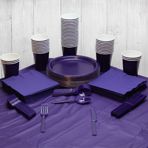 Purple 56 Person Party Pack
