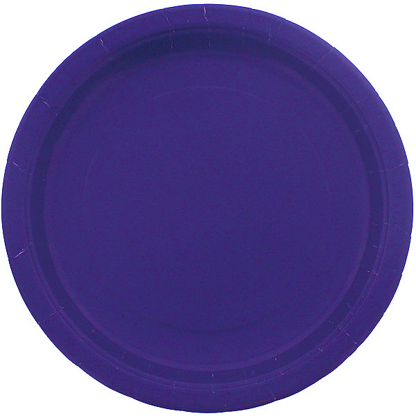 Purple Round Paper Plates 22cm - Pack of 16 Bundle Product Image